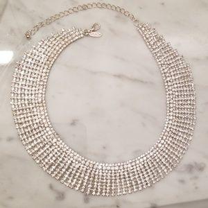 Super sparkly rhinestone statement necklace